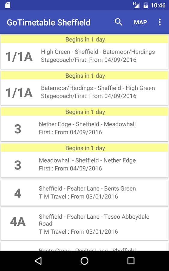 GoTimetable Sheffield- screenshot
