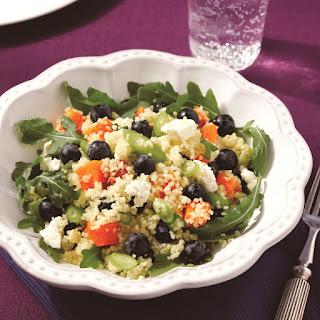 Blueberry, Arugula and Butternut Squash Quinoa.