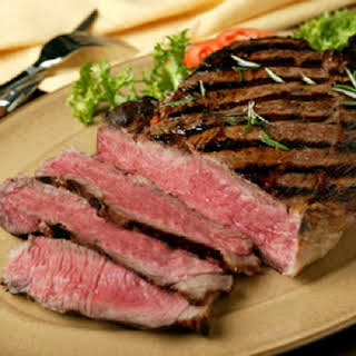 Oven Grilled Sirloin Steak.