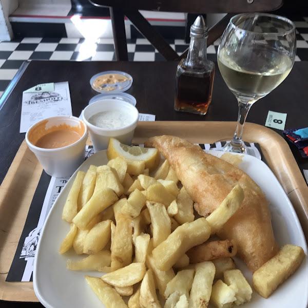 Amazing GF fish n chips! Fresh!!