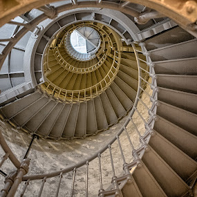 lighthouse stairs by Debbie Slocum Lockwood - Buildings & Architecture Other Interior (  )