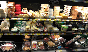 Photo: My husband was sidetracked by the gourmet cheese section