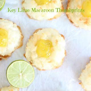 Key Lime Macaroon Thumbprints