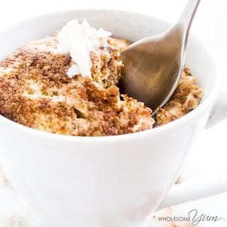 2-Minute Cinnamon Swirl Mug Muffin (Paleo, Low Carb).