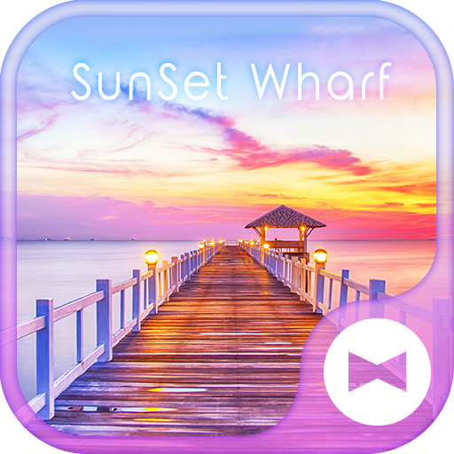 Beautiful Wallpaper SunSet Wharf Theme Icon