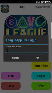 LeagueAppLive - náhled