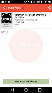 Studio One Pilates- screenshot thumbnail