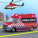 Heli Ambulance Simulator 2020: 3D Flying car games icon