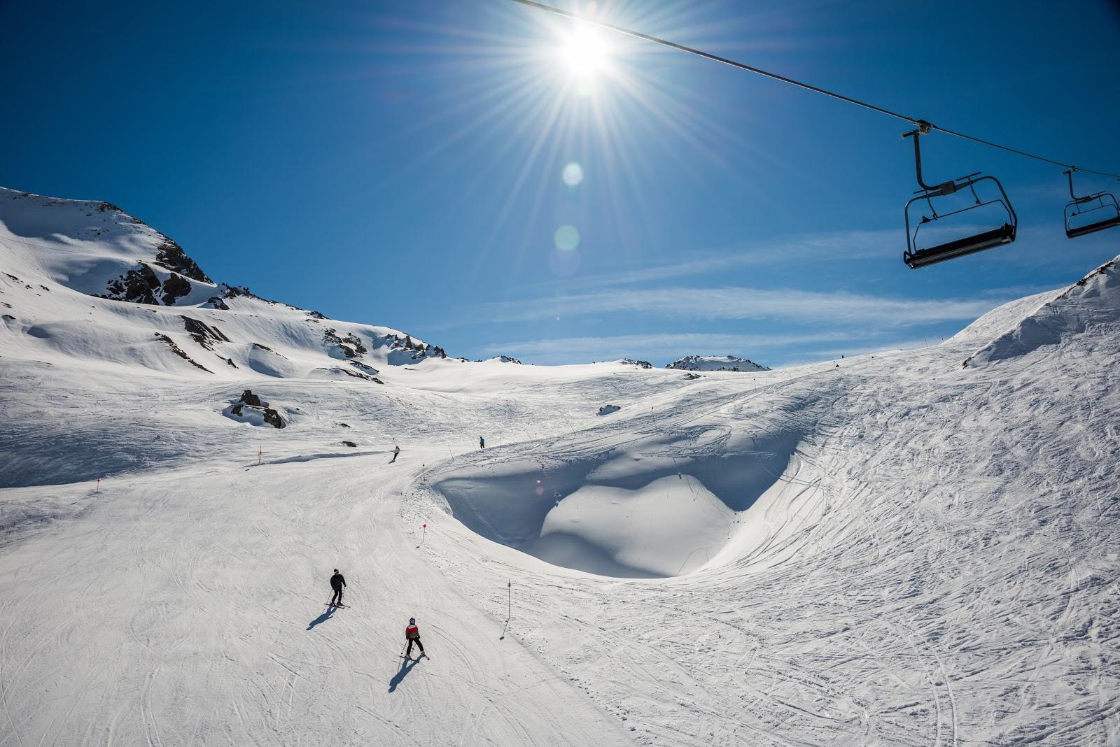 Pista de esquí en Formigal, en el sector de Izas