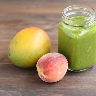 Kale Peach Mango Smoothie.