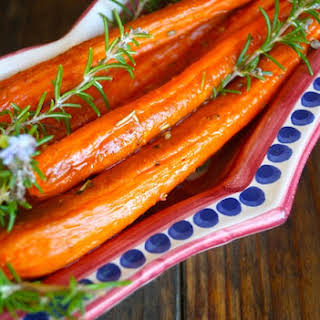 Herbs de Provence Roasted Carrots.
