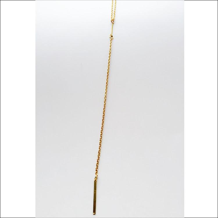 N041 - G. Lux Y-Bar Lariat Necklace