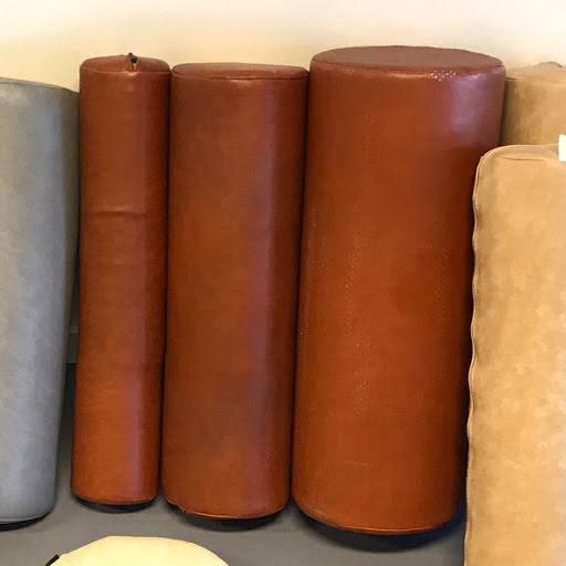 Cylinderkudde 50x10cm, brun