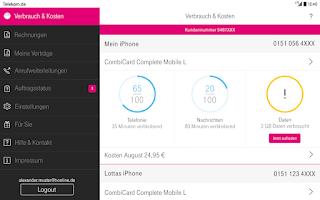 Screenshot of Kundencenter
