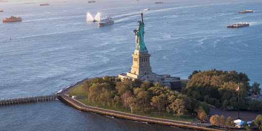 Ponant-Le-Boreal-Statue-of-Liberty.jpg - Ponant's Le Boreal sails by Lady Liberty on a visit to New York.