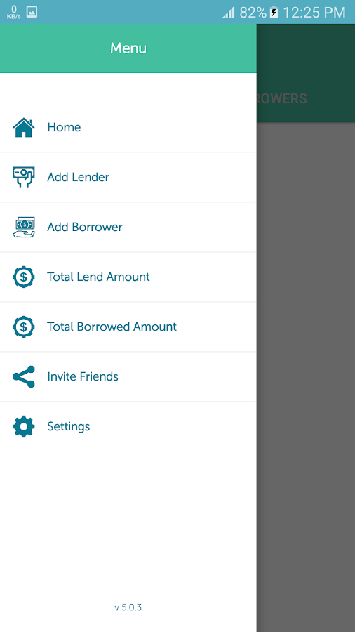 Lender Borrower- screenshot