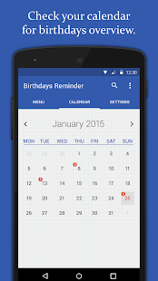 Birthdays Reminder- screenshot thumbnail