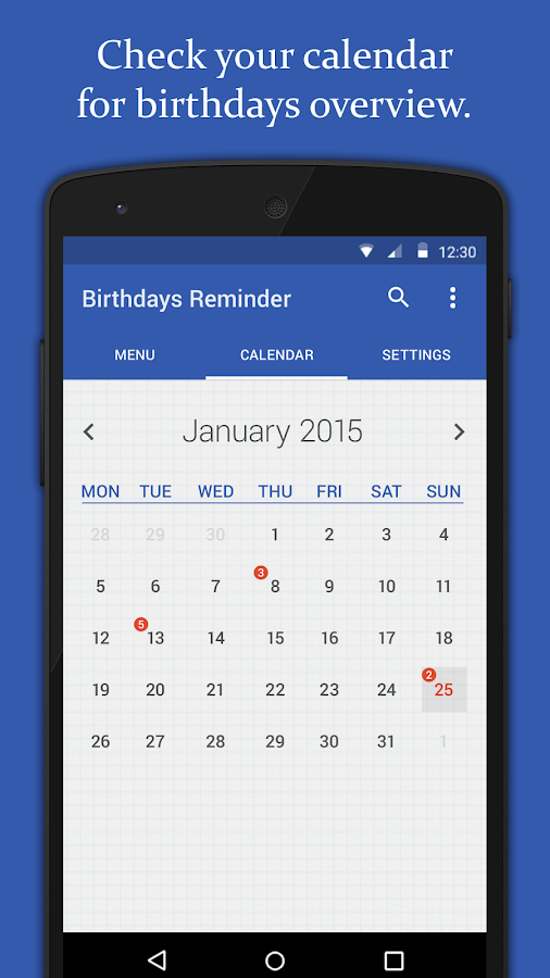 Birthdays Reminder- screenshot