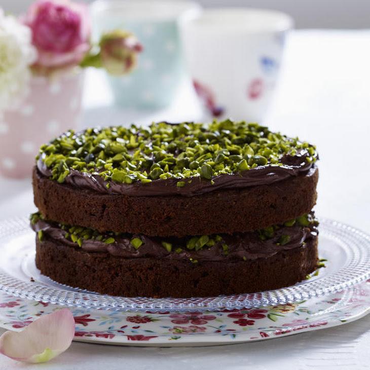Zucchini Chocolate Cake with Pistachio Nuts