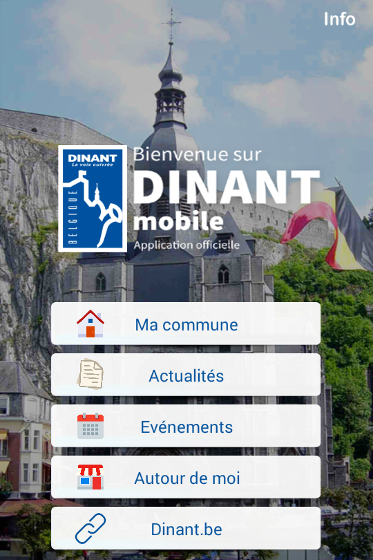 Dinant mobile- screenshot