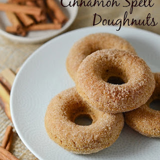 Healthier Baked Cinnamon Spelt Doughnuts {Recipe}