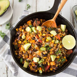Quick + Easy Black Bean Enchilada Quinoa.