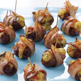 Bacon-Wrapped Mango Chutney and Manchego-Stuffed Dates.