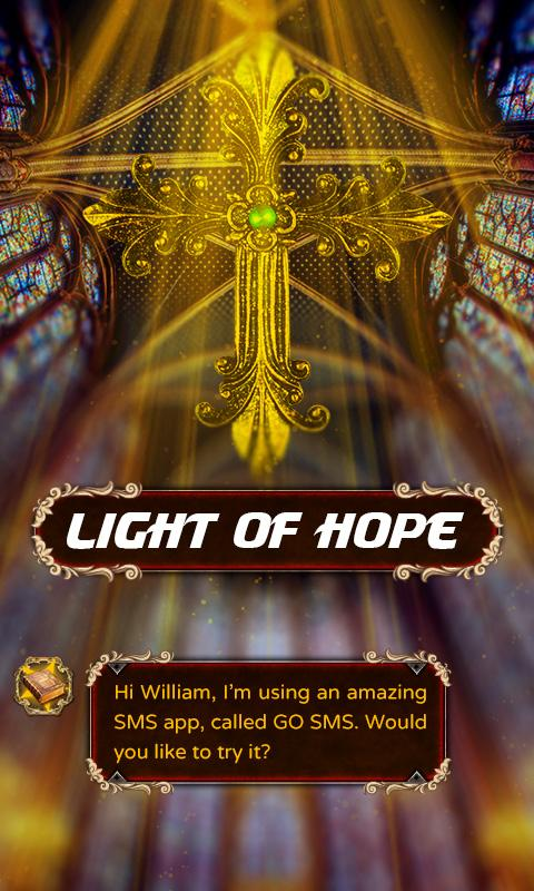 GO SMS PRO LIGHT OF HOPE THEME- screenshot