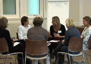 Photo: Intervisieonderwerp '- Hoe zet ik de volgende stap in mijn loopbaan?' met secretaressecoach Petra Fehring.