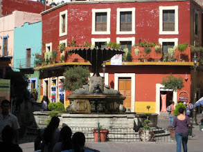 Photo: Plaza Bartilla, one of the smaller and quieter plazas.