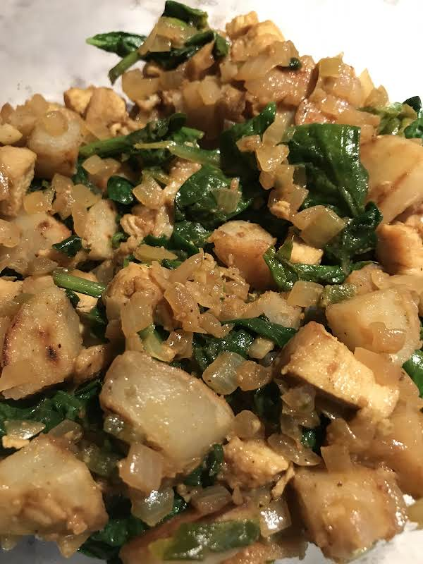 Saag Aloo (indian Potatoes With Spinach) Recipe