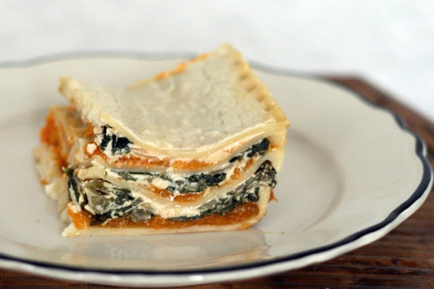 Photo: Butternut Squash and Swiss Chard White Lasagna Recipe: http://www.thedailymeal.com/7-creative-butternut-squash-recipes-slideshow#2