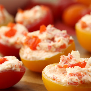 These Cream Cheese and Peppadew Stuffed Tomatoes Are the Perfect Start to Fall