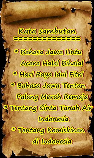 Kumpulan Sambutan Halal Bihalal Idul Fitri Bahasa Jawa Terbaru Ala