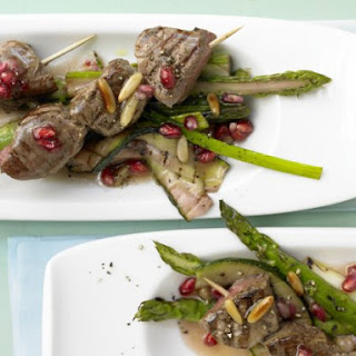 Beef Skewers with Green Asparagus
