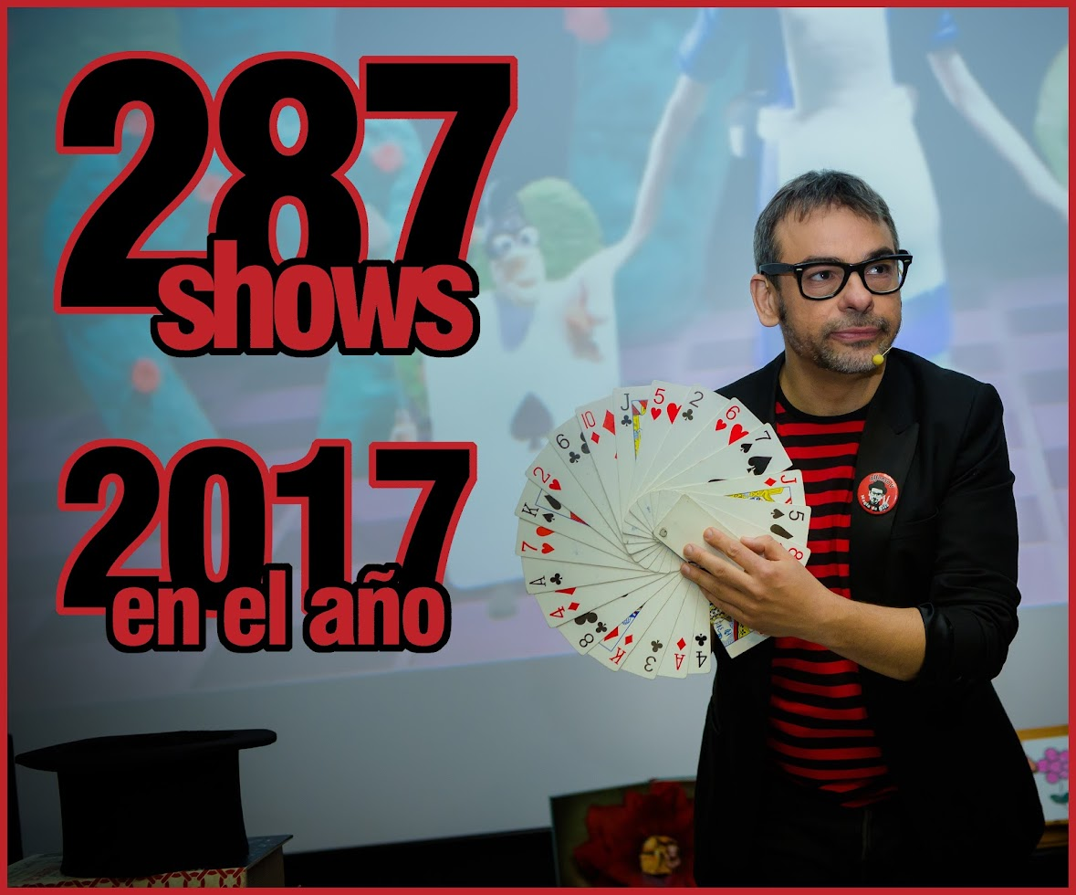287 SHOWS en el año 2017 Alfonso V mago madrid