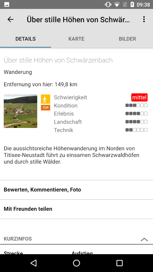 Touren in Baden-Württemberg – Screenshot