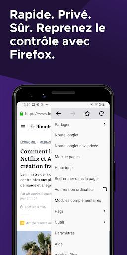 Firefox : le navigateur web rapide et privé screenshot 1