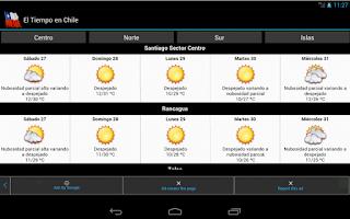 Screenshot of El Tiempo en Chile