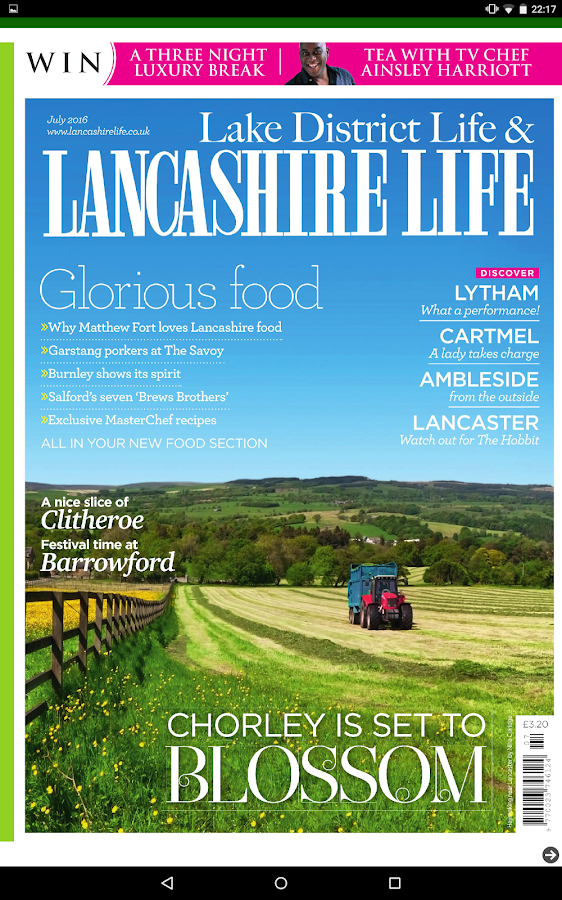 Lancashire Life Magazine- screenshot