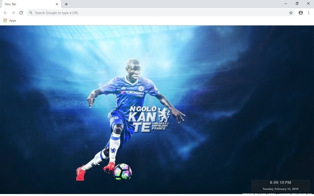 N'Golo Kanté New Tab & Wallpapers Collection