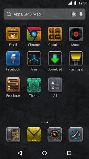 Metal Style:DU Launcher Theme screenshot 1