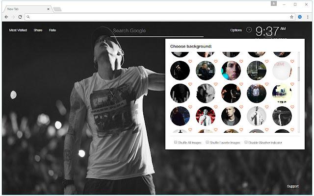 Eminem Wallpapers HD New Tab by freeaddon.com