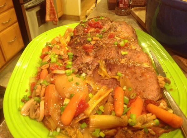 Spice Rubbed Garlic Studded Round Tip Beef Roast Recipe