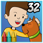 Coloring Book 32 Jim & His Dog