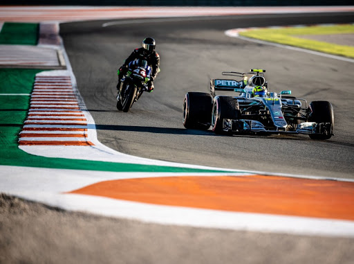 WATCH | Lewis Hamilton and Valentino Rossi trade rides for a day