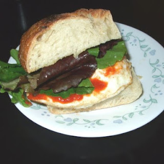 Havarti Egg Sandwich with Sriracha Chili