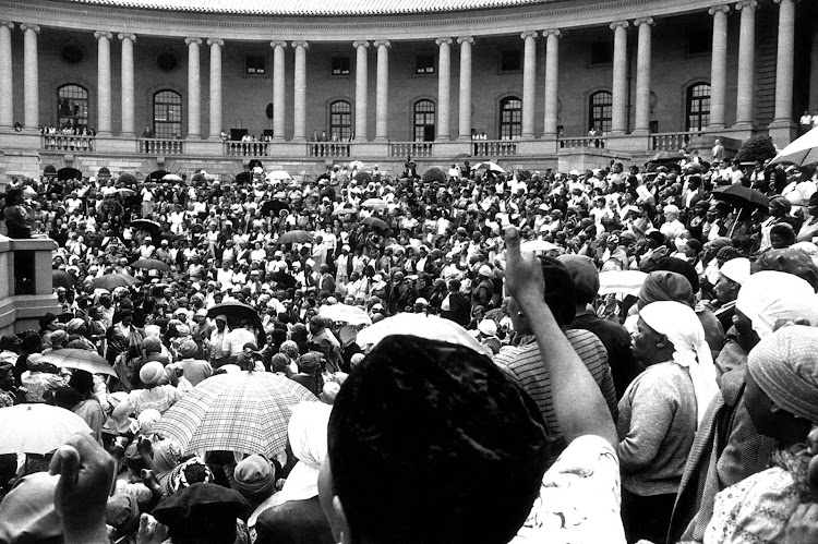 Women's march to Union Buildings, Pretoria on 9 August 1956.
