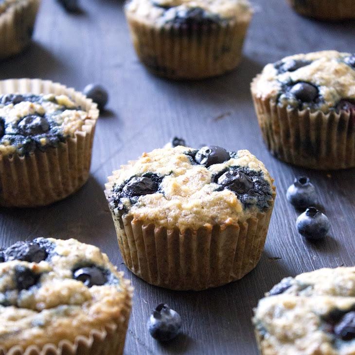 Paleo Banana-Blueberry Muffins