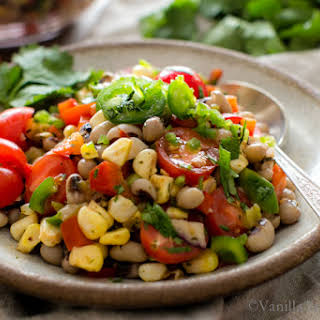 Black-Eyed Pea Sweet Corn Salad with Tomatoes and Chiles.